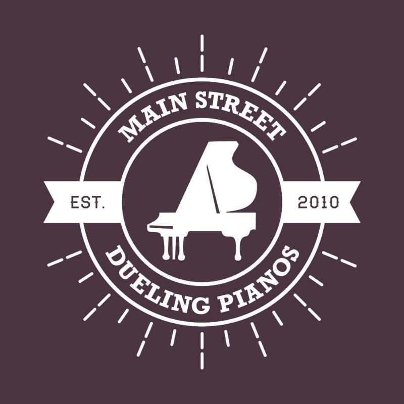 Main Street Logo Women's V-Neck by Main Street Dueling Pianos