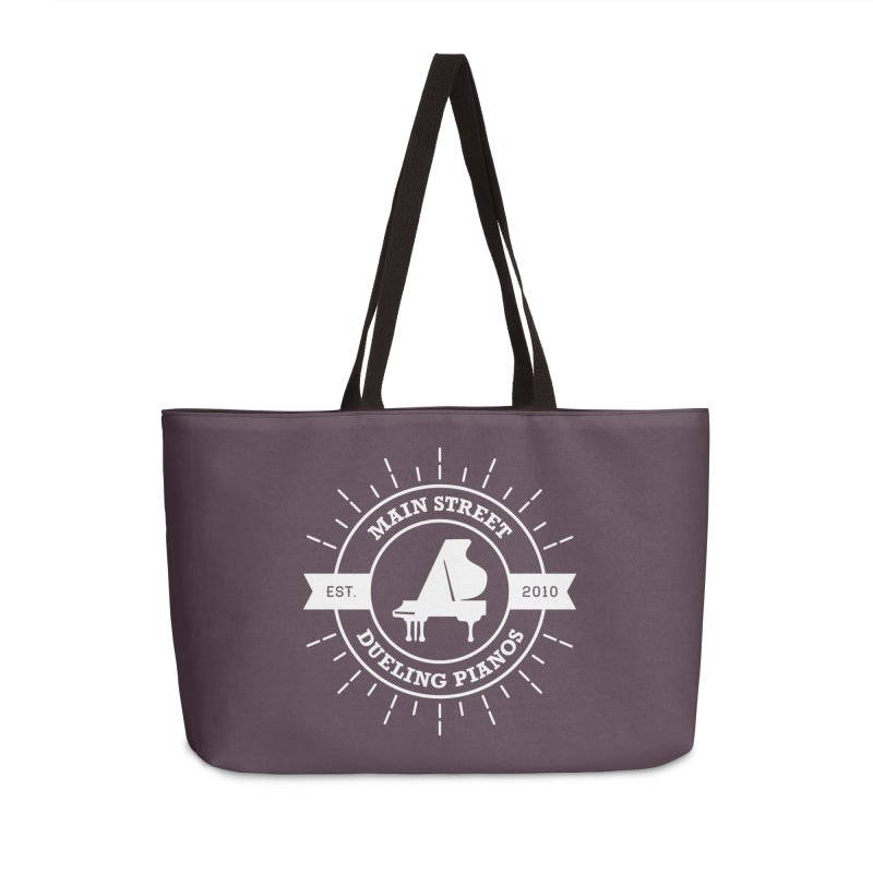 Main Street Logo Accessories Weekender Bag Bag by Main Street Dueling Pianos