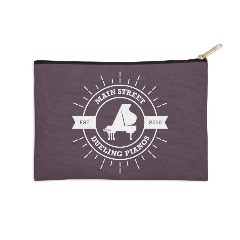 Main Street Logo Accessories Zip Pouch by Main Street Dueling Pianos