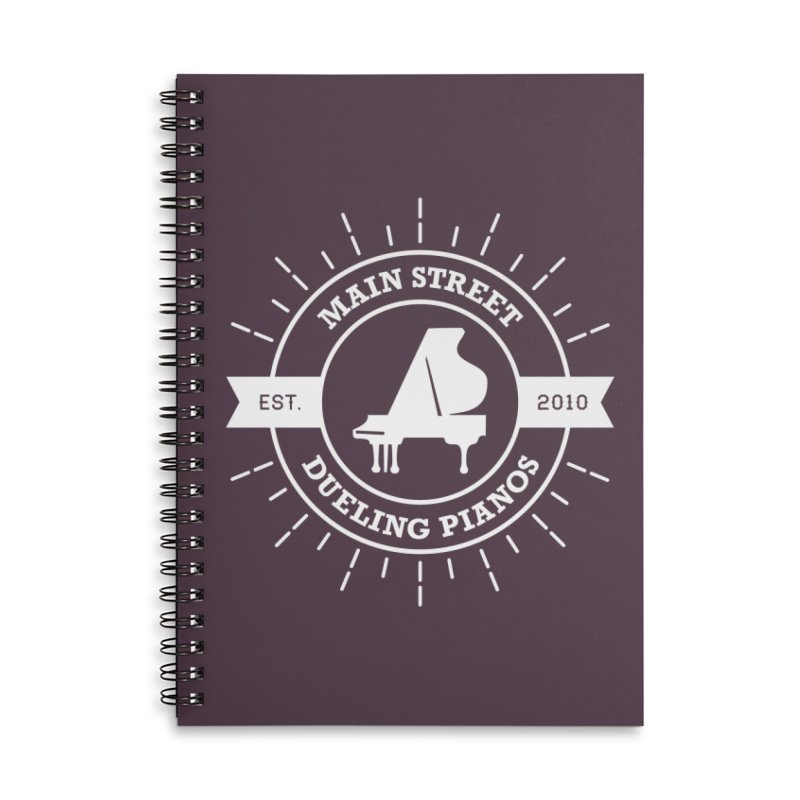 Main Street Logo Accessories Notebook by Main Street Dueling Pianos