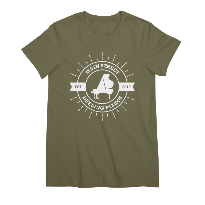 Main Street Logo Women's Premium T-Shirt by Main Street Dueling Pianos