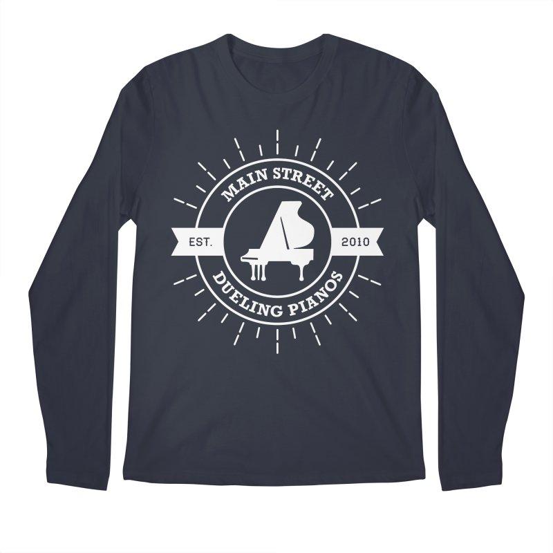 Main Street Logo Men's Regular Longsleeve T-Shirt by Main Street Dueling Pianos