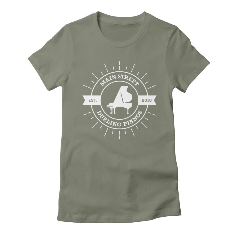 Main Street Logo Women's Fitted T-Shirt by Main Street Dueling Pianos