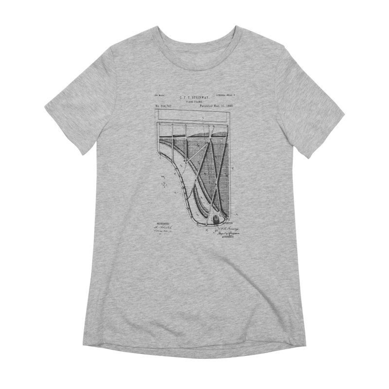 Steinway Patent Women's Extra Soft T-Shirt by Main Street Dueling Pianos