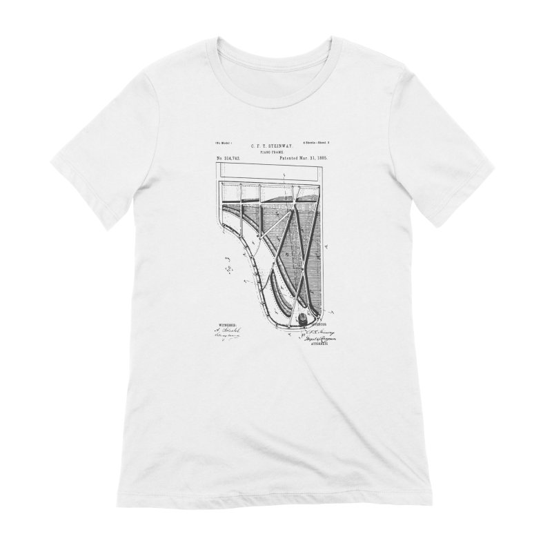 Steinway Patent Women's T-Shirt by Main Street Dueling Pianos
