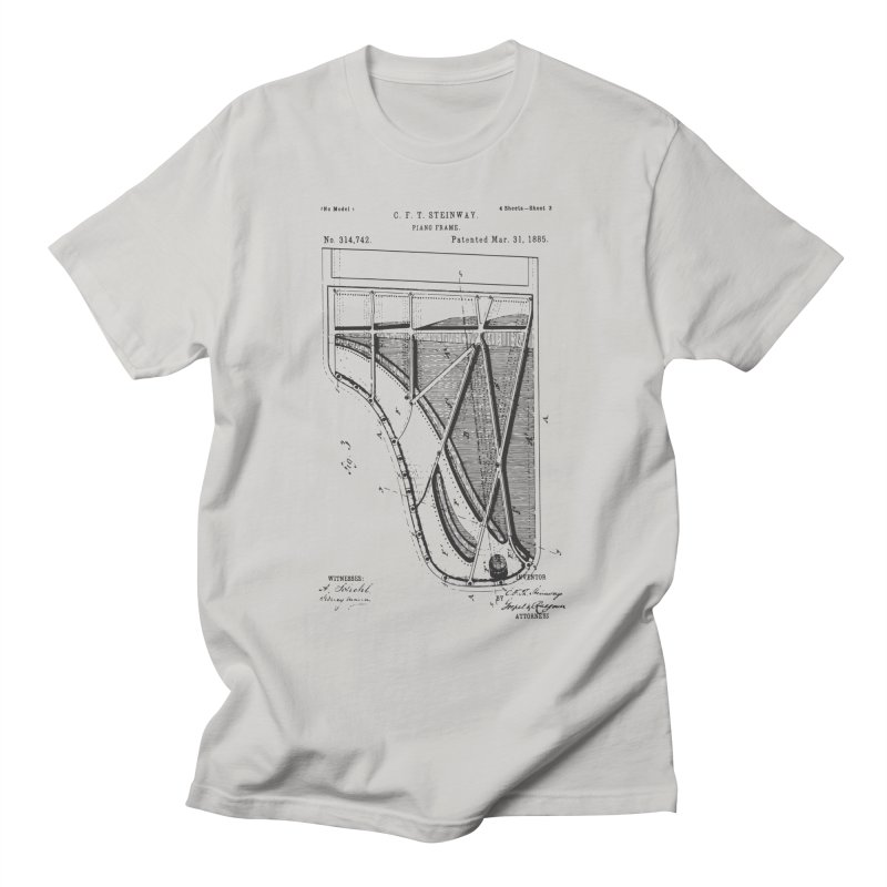 Steinway Patent Men's T-Shirt by Main Street Dueling Pianos