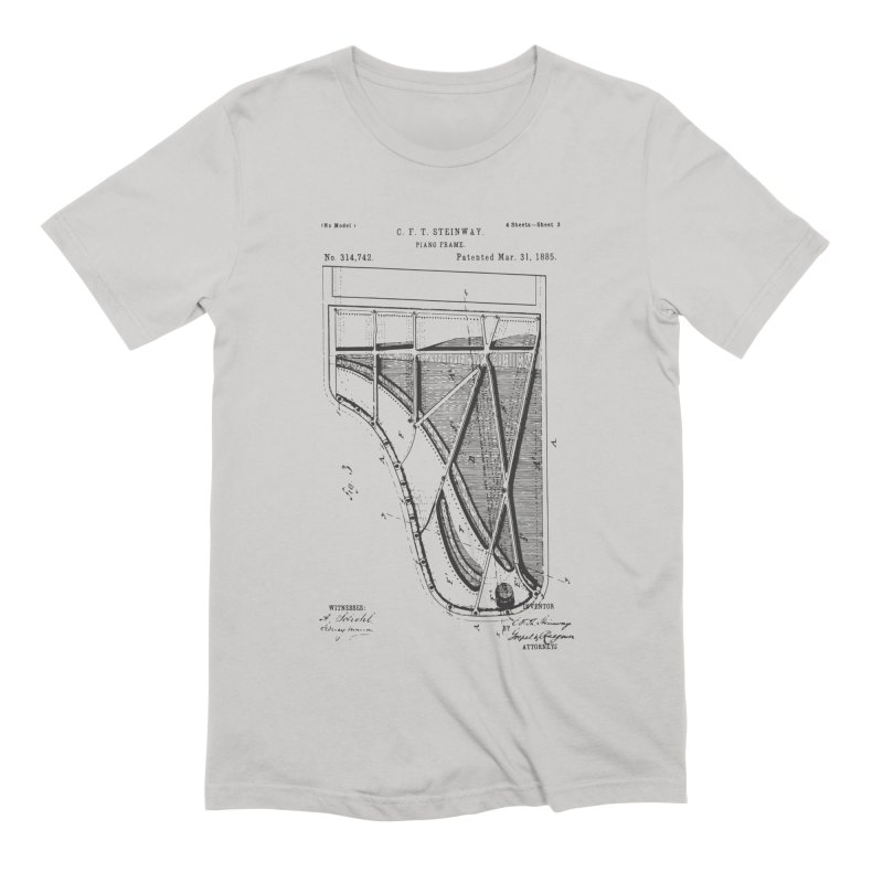 Steinway Patent Men's Extra Soft T-Shirt by Main Street Dueling Pianos