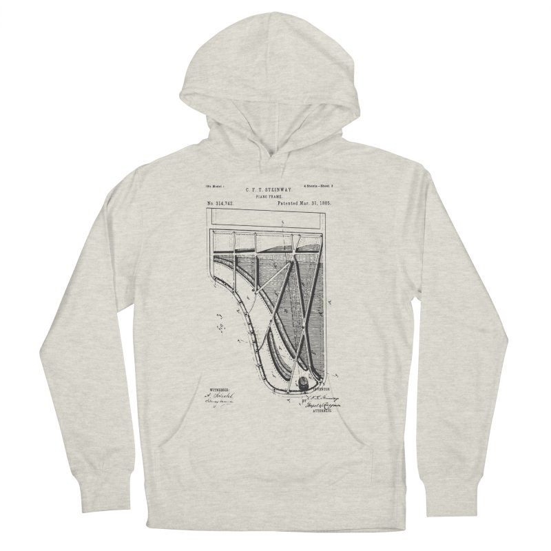 Steinway Patent Men's French Terry Pullover Hoody by Main Street Dueling Pianos