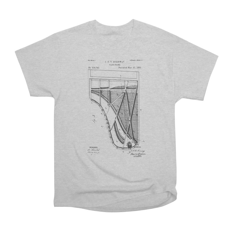 Steinway Patent Men's Heavyweight T-Shirt by Main Street Dueling Pianos