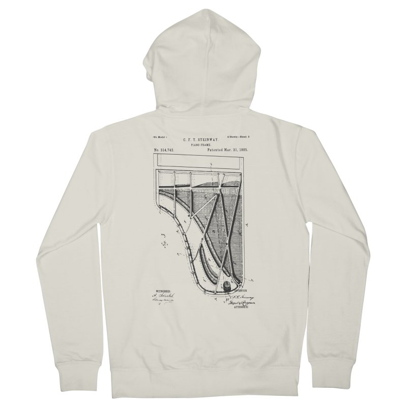 Steinway Patent Men's French Terry Zip-Up Hoody by Main Street Dueling Pianos
