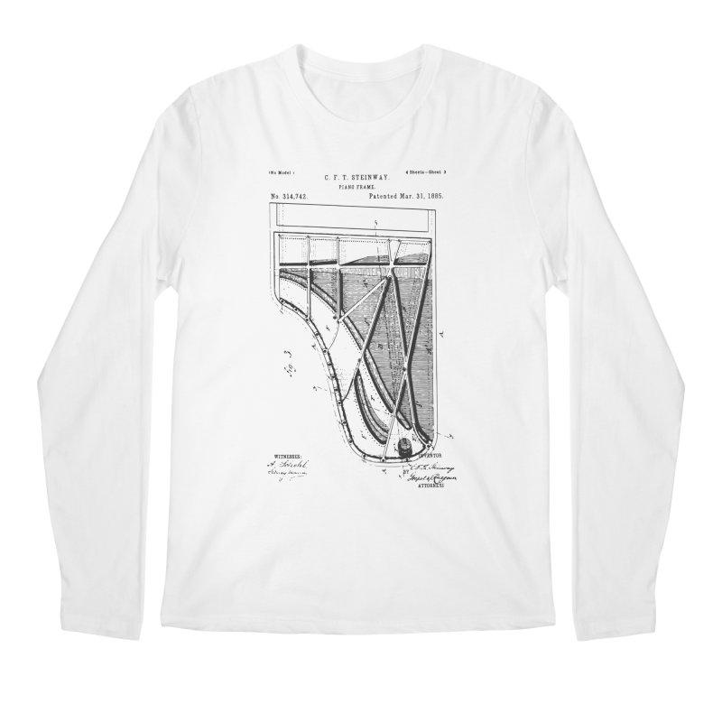 Steinway Patent Men's Regular Longsleeve T-Shirt by Main Street Dueling Pianos
