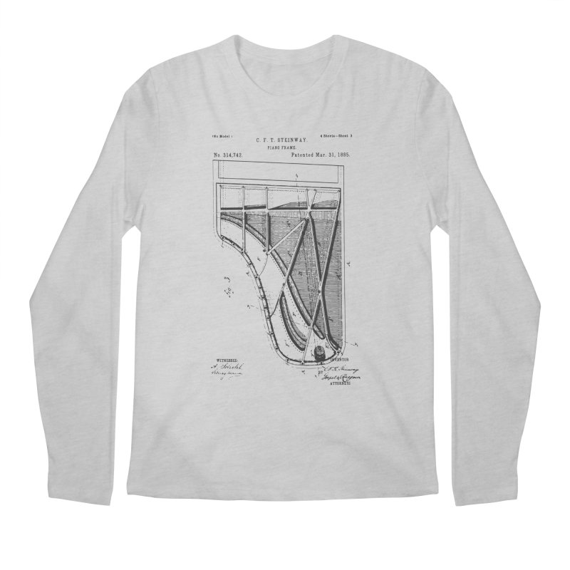 Steinway Patent Men's Regular Longsleeve T-Shirt by Main Street Dueling Pianos