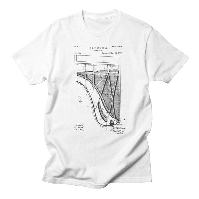 Steinway Patent Men's Regular T-Shirt by Main Street Dueling Pianos