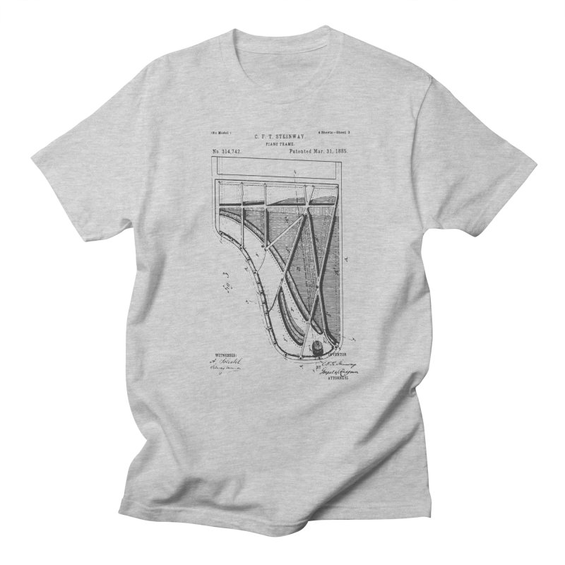 Steinway Patent Women's Regular Unisex T-Shirt by Main Street Dueling Pianos