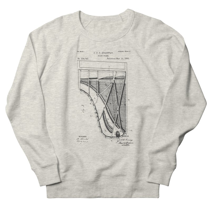 Steinway Patent Women's French Terry Sweatshirt by Main Street Dueling Pianos