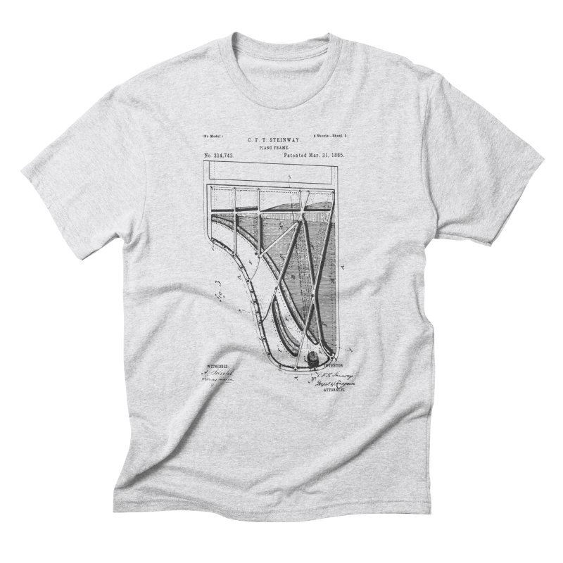 Steinway Patent Men's Triblend T-Shirt by Main Street Dueling Pianos