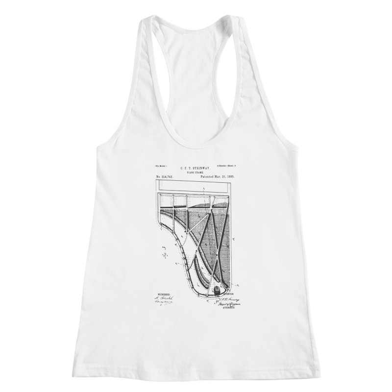 Steinway Patent Women's Tank by Main Street Dueling Pianos