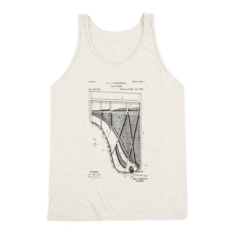 Steinway Patent Men's Triblend Tank by Main Street Dueling Pianos