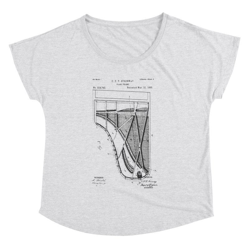 Steinway Patent Women's Dolman Scoop Neck by Main Street Dueling Pianos
