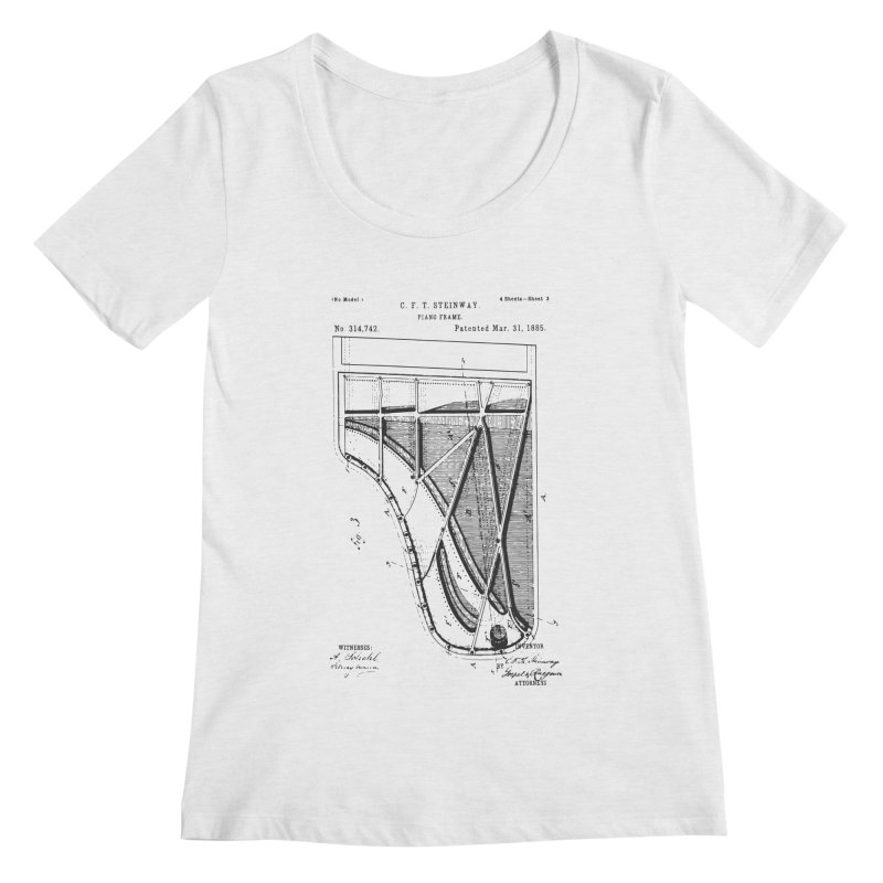 Steinway Patent Women's Regular Scoop Neck by Main Street Dueling Pianos