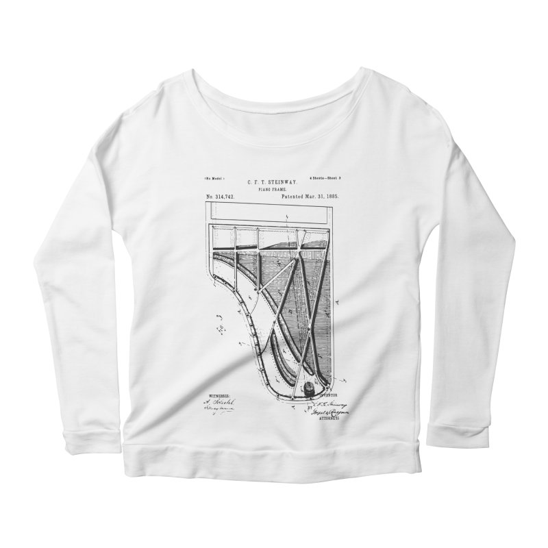 Steinway Patent Women's Scoop Neck Longsleeve T-Shirt by Main Street Dueling Pianos