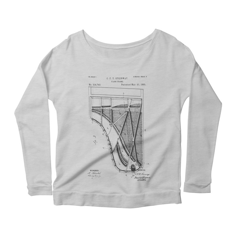 Steinway Patent Women's Longsleeve T-Shirt by Main Street Dueling Pianos