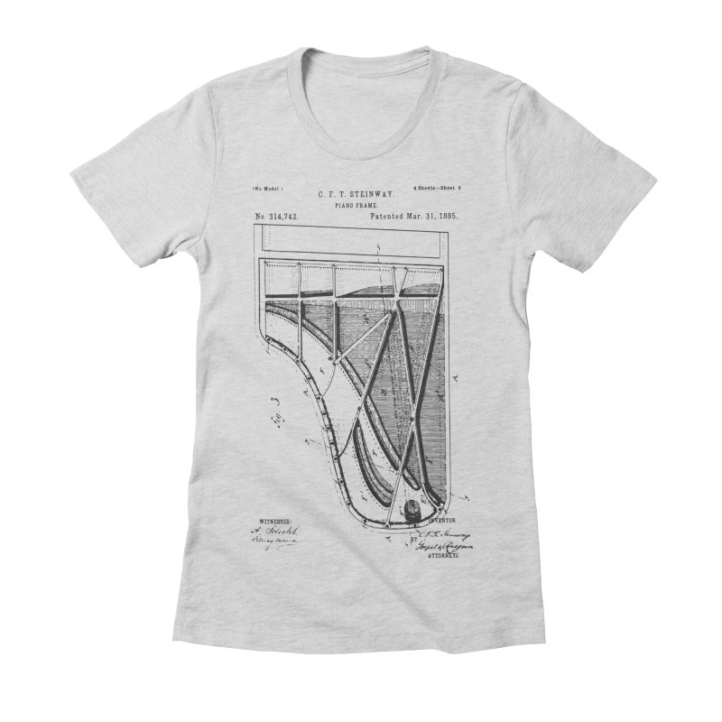 Steinway Patent Women's Fitted T-Shirt by Main Street Dueling Pianos