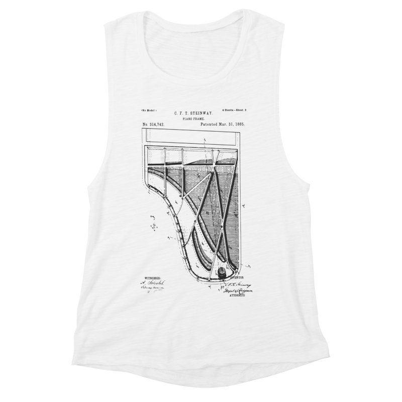 Steinway Patent Women's Muscle Tank by Main Street Dueling Pianos