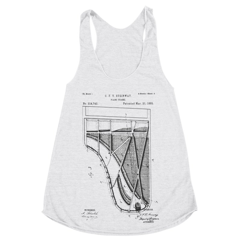 Steinway Patent Women's Racerback Triblend Tank by Main Street Dueling Pianos