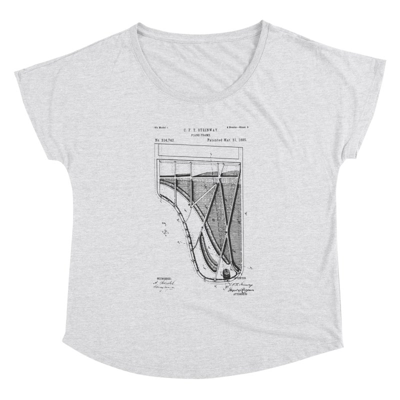 Steinway Patent Women's Scoop Neck by Main Street Dueling Pianos