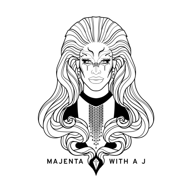 Majenta Oracle (Line Art) Accessories Magnet by Majenta with a J Merch