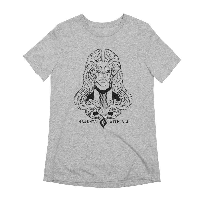 Majenta Oracle (Line Art) Women's T-Shirt by Majenta with a J Merch