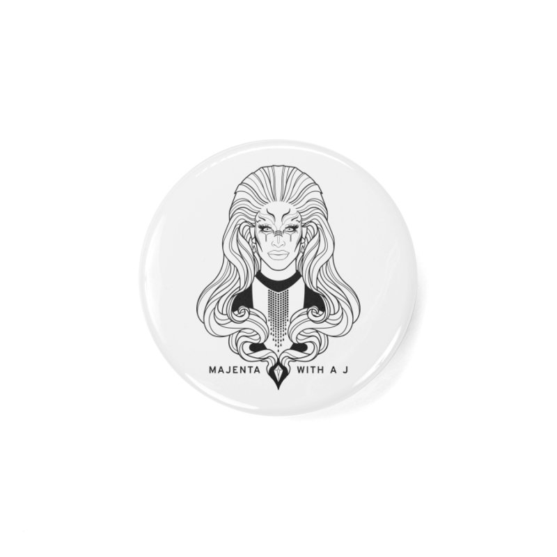 Majenta Oracle (Line Art) Accessories Button by Majenta with a J Merch