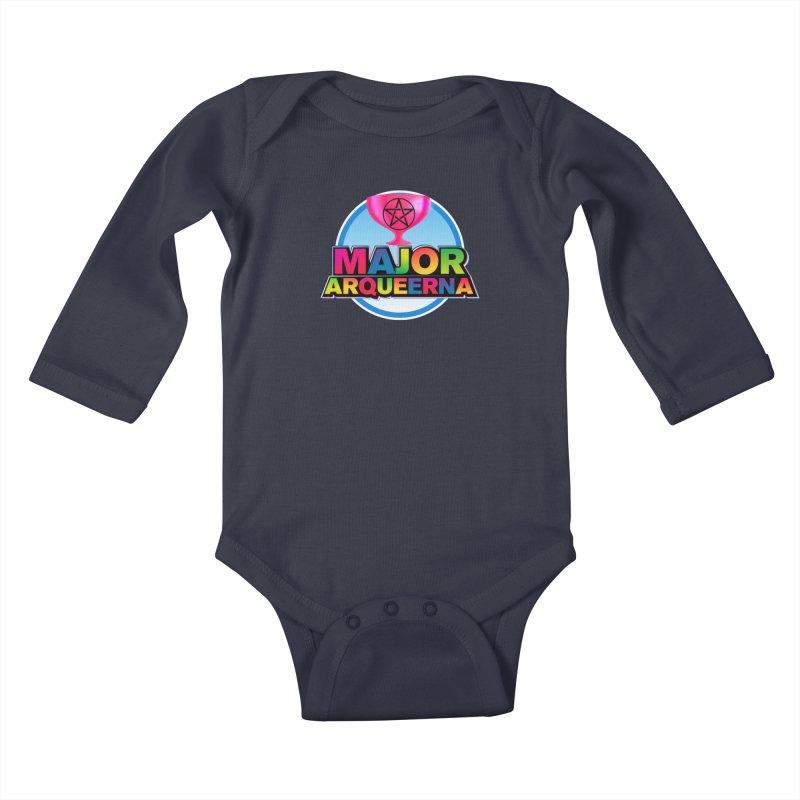 Major Arqueerna Logo Kids Baby Longsleeve Bodysuit by majorarqueerna's Artist Shop