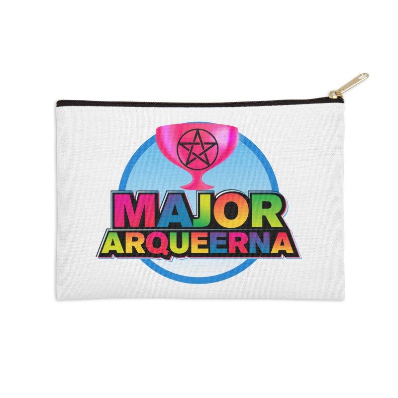 Major Arqueerna Logo Accessories Zip Pouch by majorarqueerna's Artist Shop