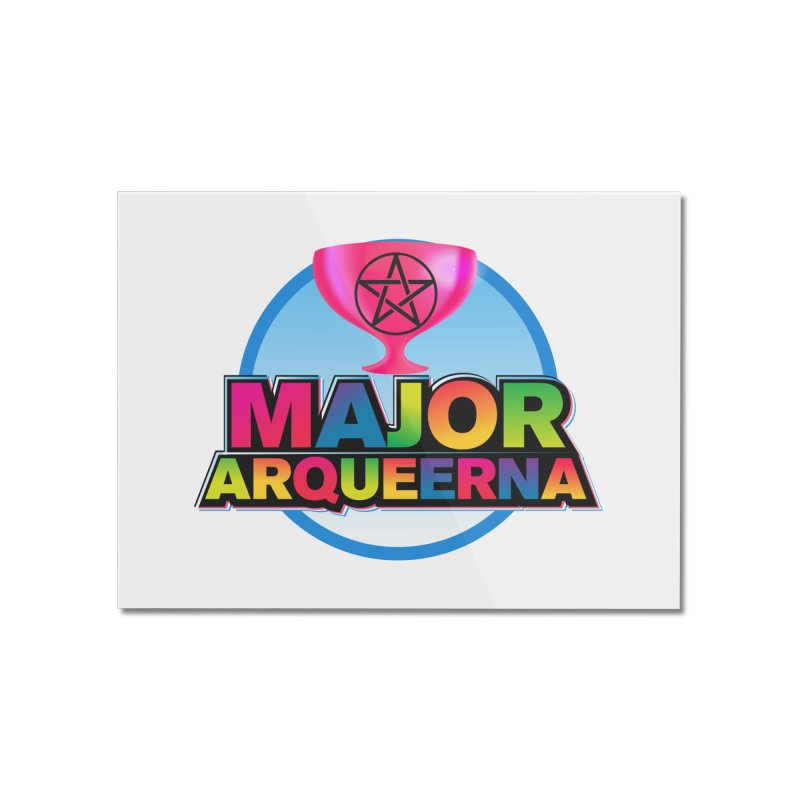 Major Arqueerna Logo Home Mounted Acrylic Print by majorarqueerna's Artist Shop