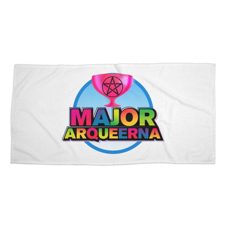 Major Arqueerna Logo Accessories Beach Towel by majorarqueerna's Artist Shop
