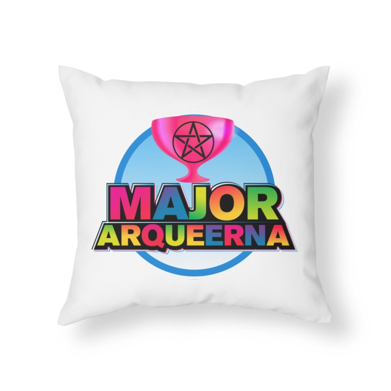 Major Arqueerna Logo Home Throw Pillow by majorarqueerna's Artist Shop
