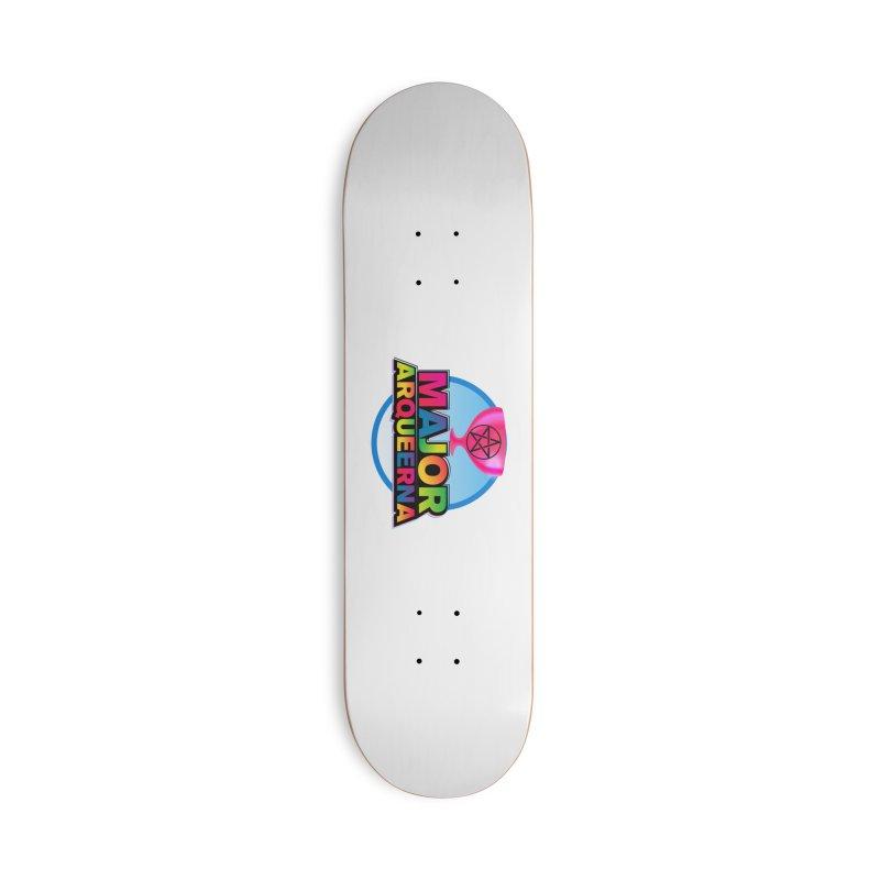 Major Arqueerna Logo Accessories Skateboard by majorarqueerna's Artist Shop