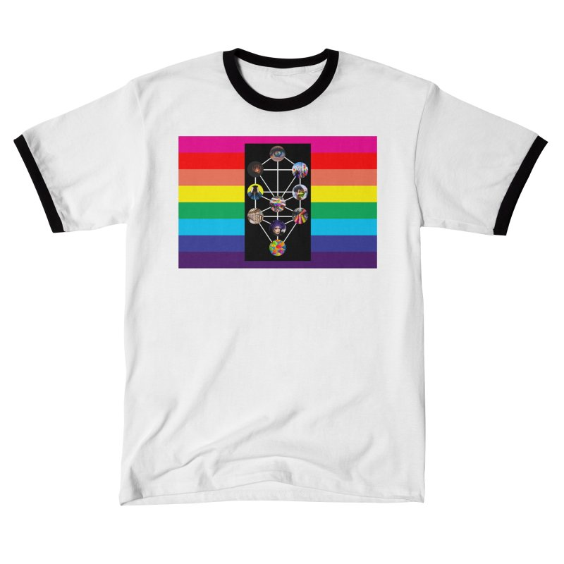 Queer Tree of Life with Flag Women's T-Shirt by majorarqueerna's Artist Shop