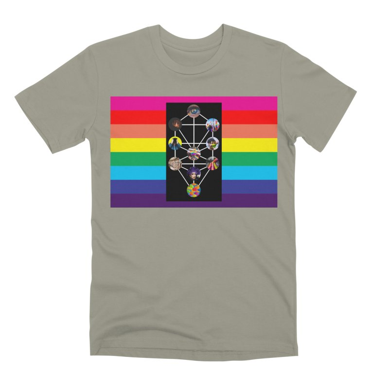 Queer Tree of Life with Flag Men's T-Shirt by majorarqueerna's Artist Shop
