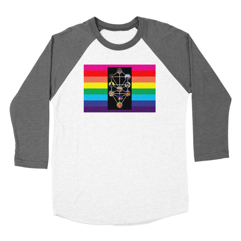 Queer Tree of Life with Flag Women's Longsleeve T-Shirt by majorarqueerna's Artist Shop