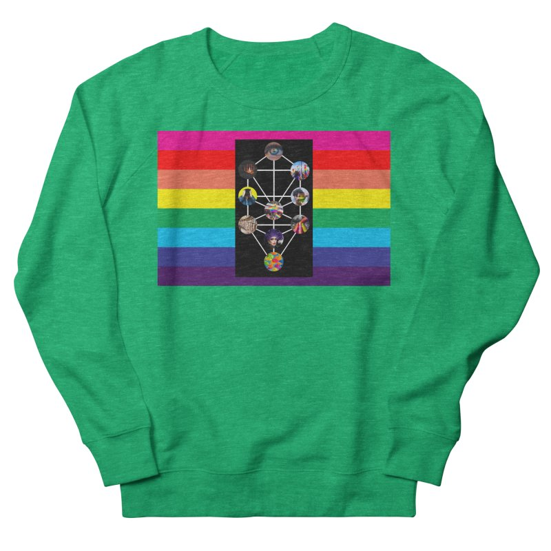 Queer Tree of Life with Flag Women's Sweatshirt by majorarqueerna's Artist Shop