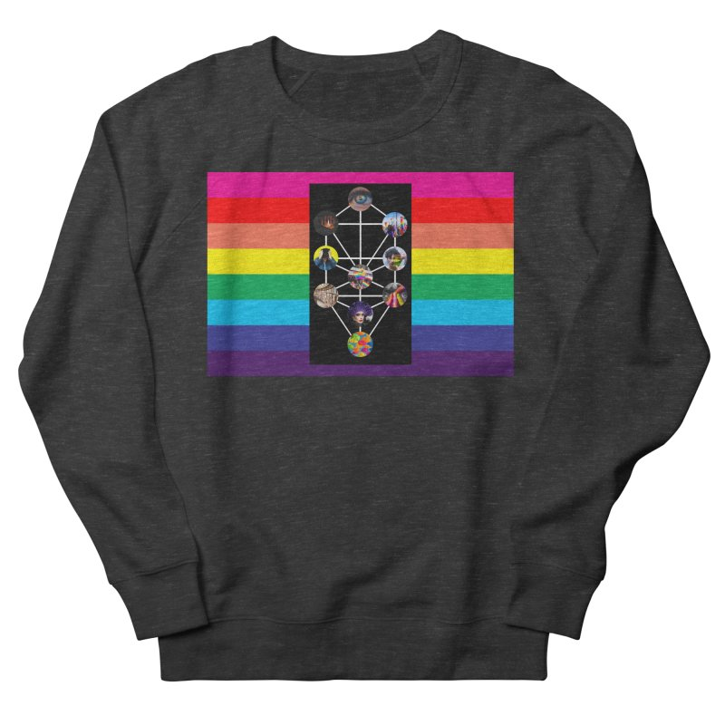 Queer Tree of Life with Flag Women's Sweatshirt by majorarqueerna's Artist Shop