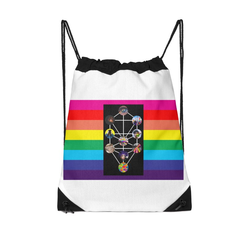 Queer Tree of Life with Flag Accessories Bag by majorarqueerna's Artist Shop