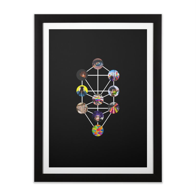 Queer Tree of Life Home Framed Fine Art Print by majorarqueerna's Artist Shop