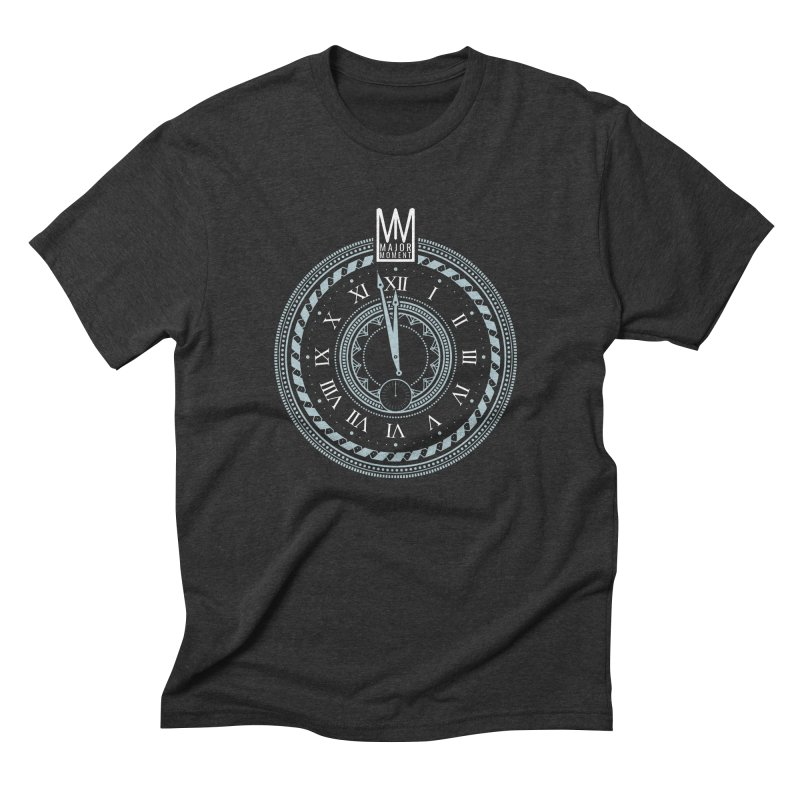 Doomsday Clock in Men's Triblend T-Shirt Heather Onyx by Major Moment