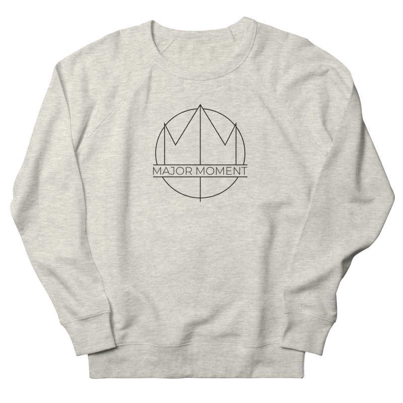 Major Moment Logo Black in Men's French Terry Sweatshirt Heather Oatmeal by Major Moment