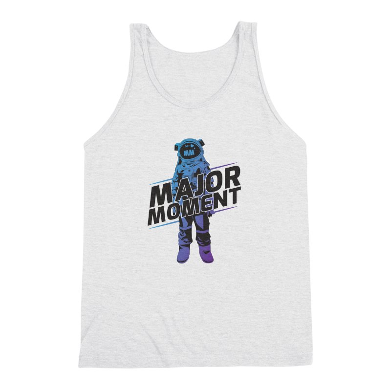 Major Tom MM Design in Men's Triblend Tank Heather White by Major Moment