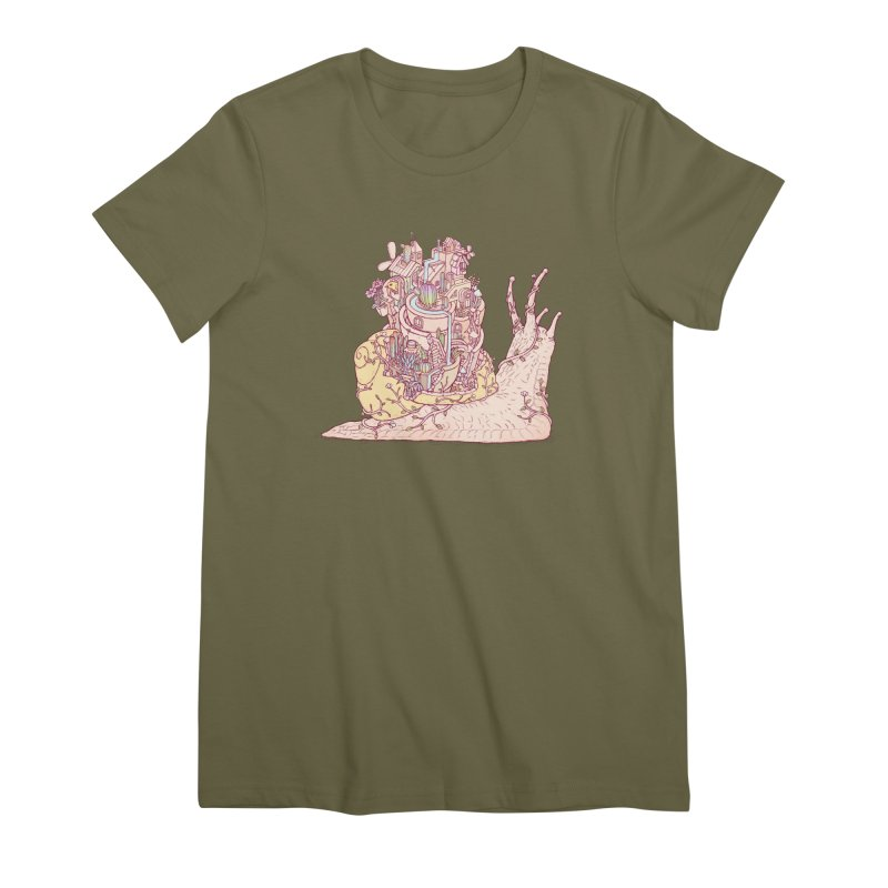 slow happy garden Women's Premium T-Shirt by makapa's Artist Shop